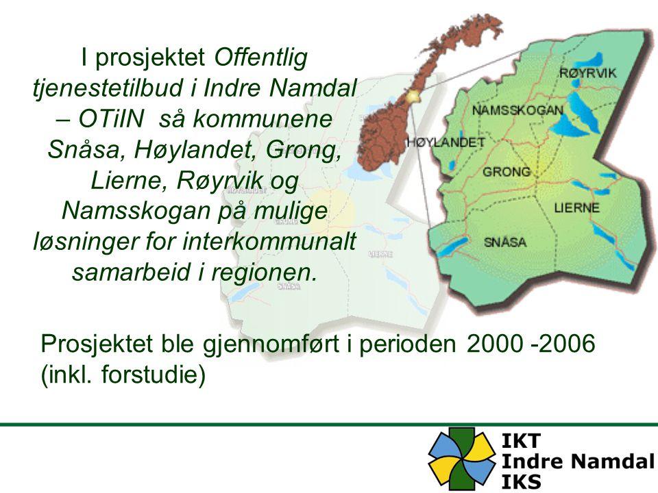 Mål for Indre Namdal 1.Opprettholdelse av de seks kommunene som sjølstendige kommuner 2.