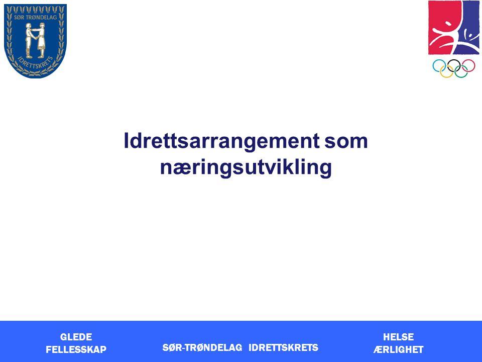 GLEDE FELLESSKAP HELSE ÆRLIGHET Idrettsarrangement som næringsutvikling SØR-TRØNDELAG IDRETTSKRETS