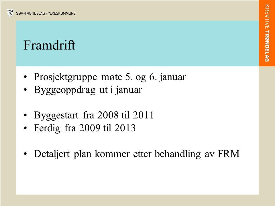 Framdrift Prosjektgruppe møte 5. og 6.