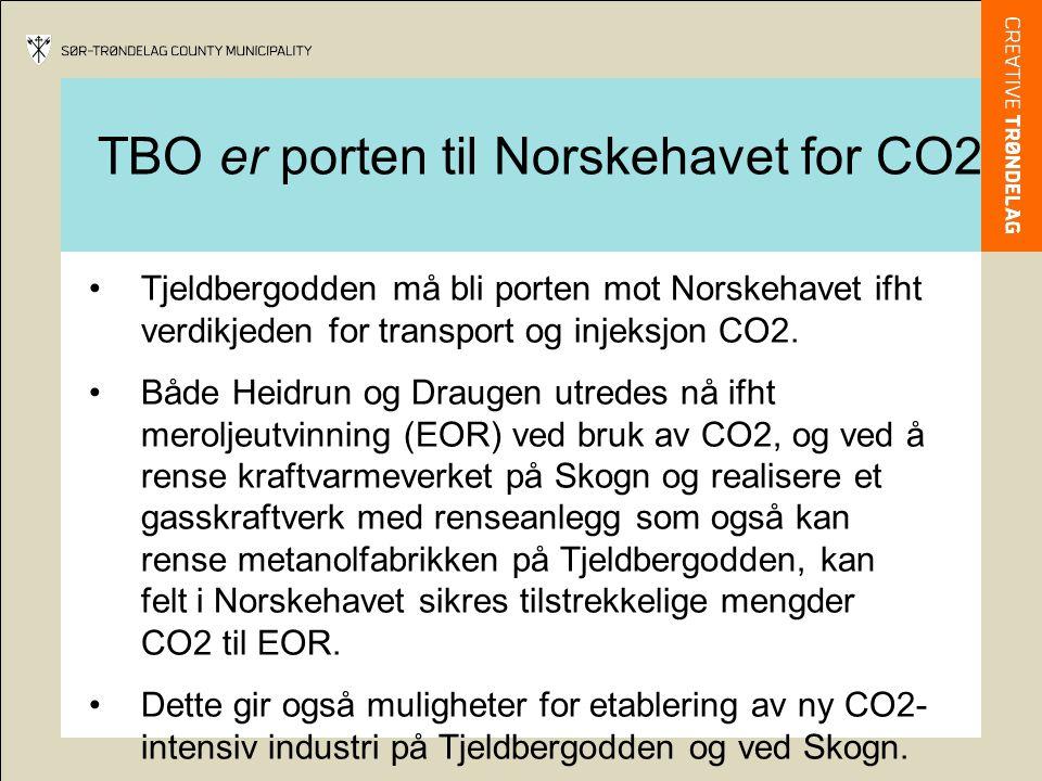 Tjeldbergodden må bli porten mot Norskehavet ifht verdikjeden for transport og injeksjon CO2. Både Heidrun og Draugen utredes nå ifht meroljeutvinning