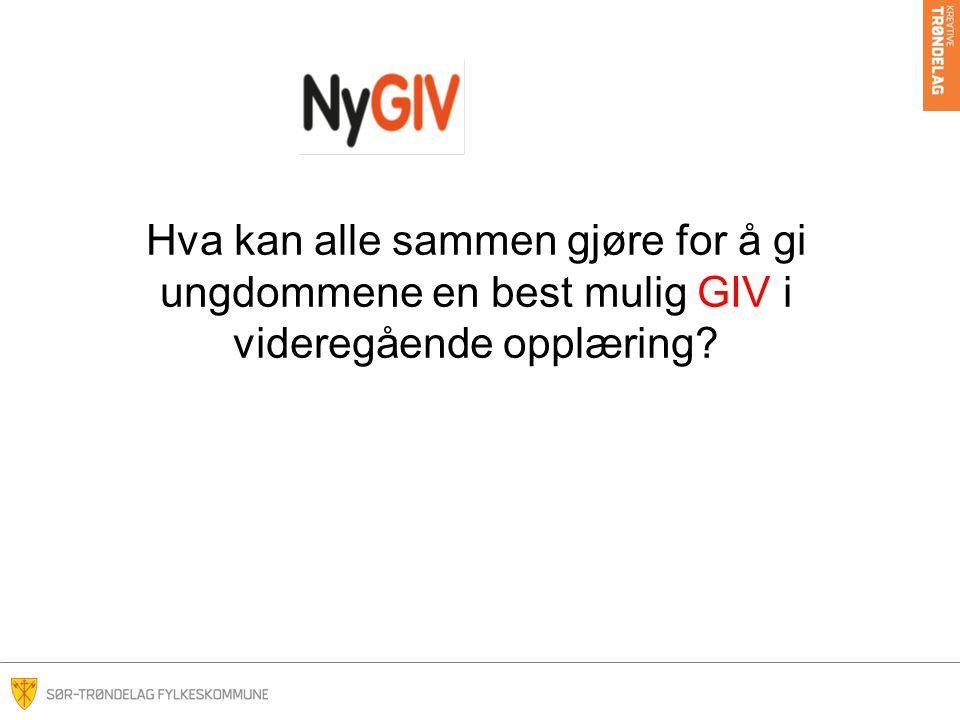 Hva kan alle sammen gjøre for å gi ungdommene en best mulig GIV i videregående opplæring?