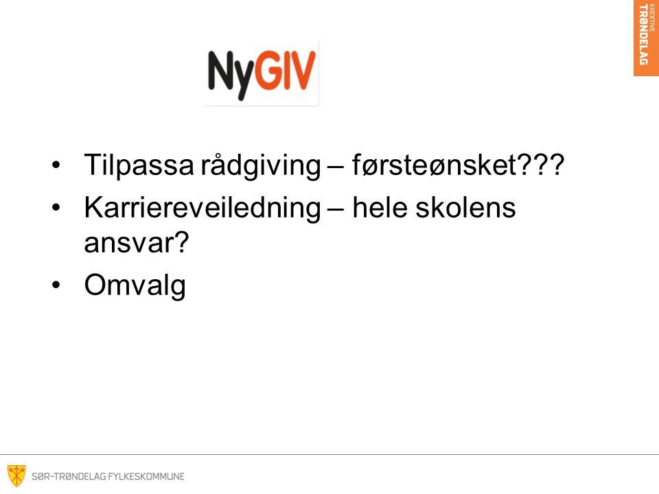 Overgangssamtalen for NyGIV-elever når, hvem, hva, hvorfor.
