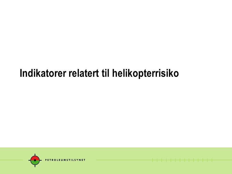 Indikatorer relatert til helikopterrisiko
