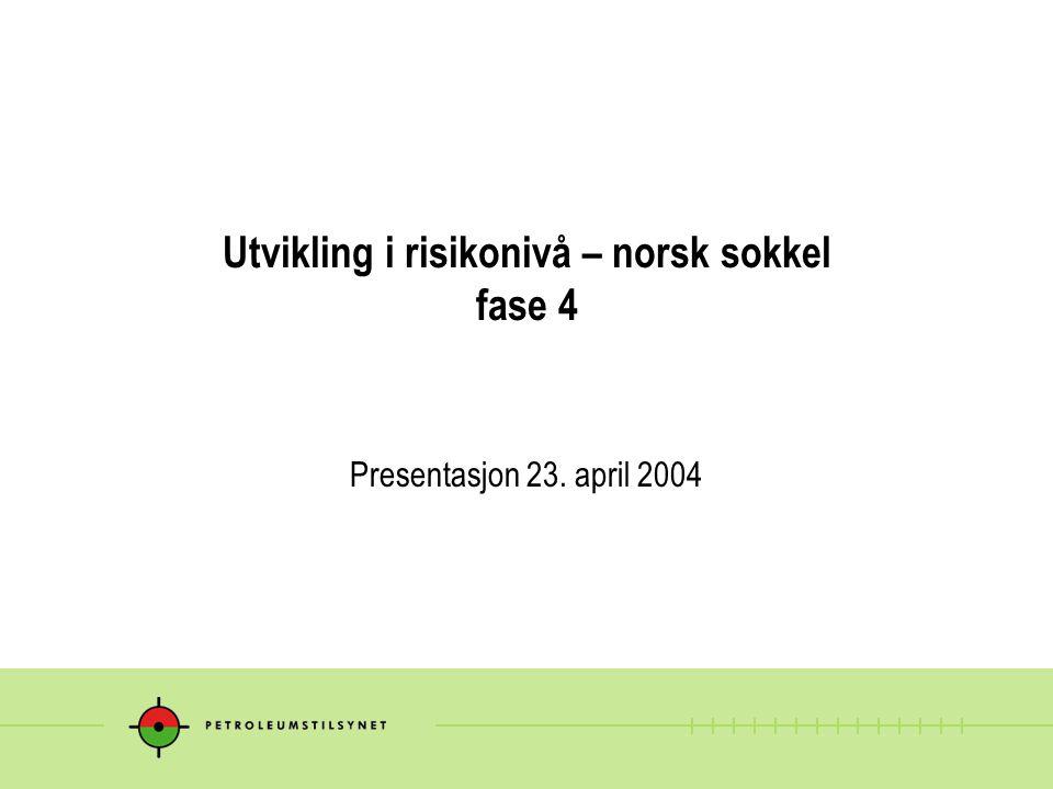 Utvikling i risikonivå – norsk sokkel fase 4 Presentasjon 23. april 2004