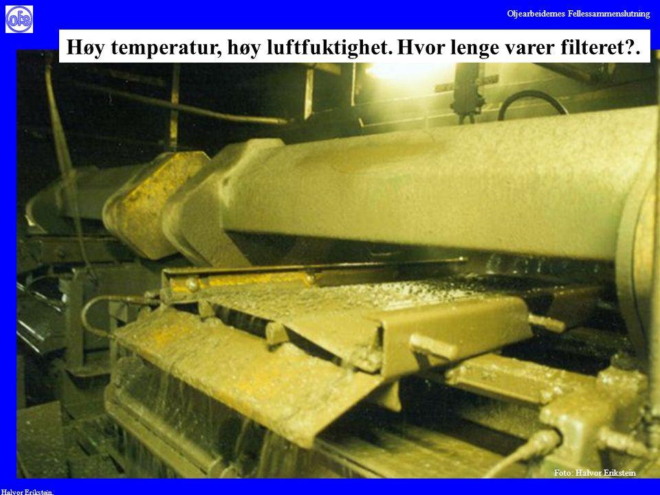 Oljearbeidernes Fellessammenslutning Halvor Erikstein, Foto: Halvor Erikstein Høy temperatur, høy luftfuktighet. Hvor lenge varer filteret?.
