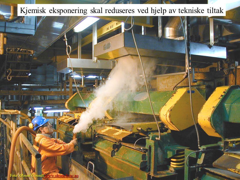 Oljearbeidernes Fellessammenslutning Halvor Erikstein, Foto; Olesen Consult www.olesen-hvac.no www.olesen-hvac.no Kjemisk eksponering skal reduseres v