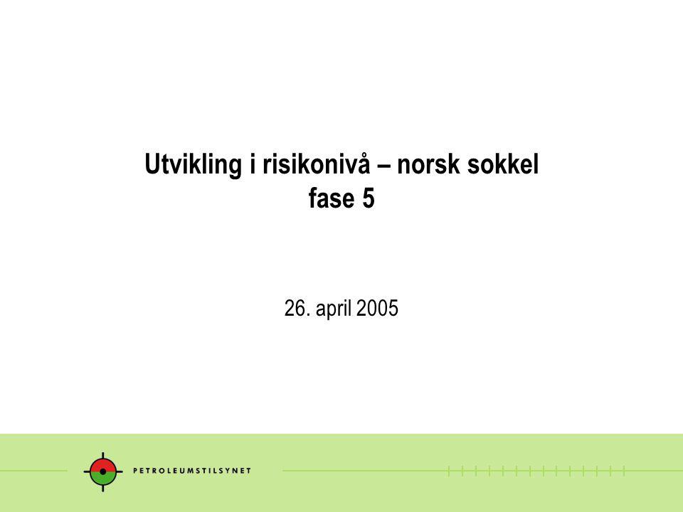 Utvikling i risikonivå – norsk sokkel fase 5 26. april 2005