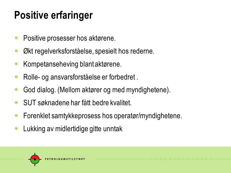 Utfordringer Riggmarkedet Hendelser, melding/varsling og gransking/oppfølging Avvik og unntak.
