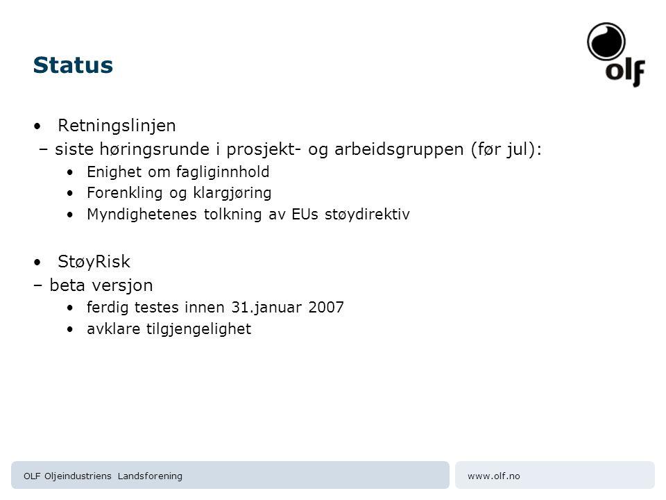 www.olf.noOLF Oljeindustriens Landsforening Retningslinjene - oppbygging