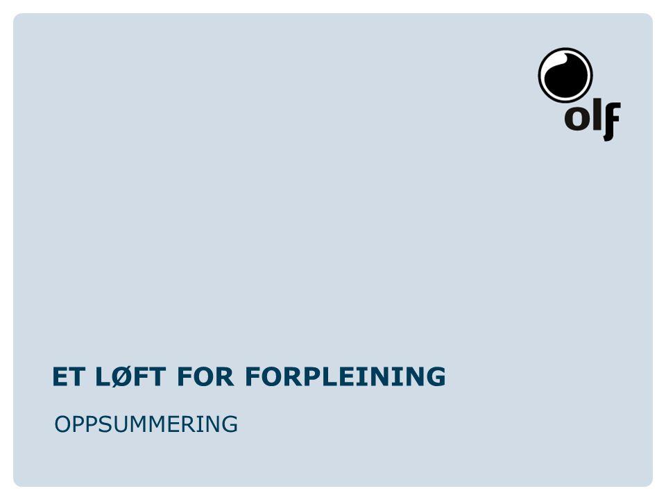 www.olf.noOLF Oljeindustriens Landsforening OPPSTART-FREMDRIFT PROSJEKTET STARTET HØSTEN 2001 FERDIGSTILLT VED RAPPORT HØSTEN 2003 FOKUS PÅ FØLGENDE OMRÅDER: ARBEIDSTAKERMEDVIRKNING KRAV TIL ARBEIDSMILJØ/METODER FOR FASTSETTELSE AV KRAV ANALYSE/MÅLING AV ARBEIDSMILJØFORHOLD OPPLÆRING STOR AKTIVITET I ARBEIDSGRUPPER OG I STYRINGSGRUPPE