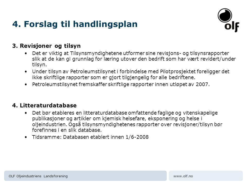 www.olf.noOLF Oljeindustriens Landsforening 4. Forslag til handlingsplan 3.