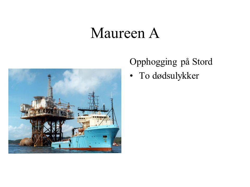 Maureen A Opphogging på Stord To dødsulykker
