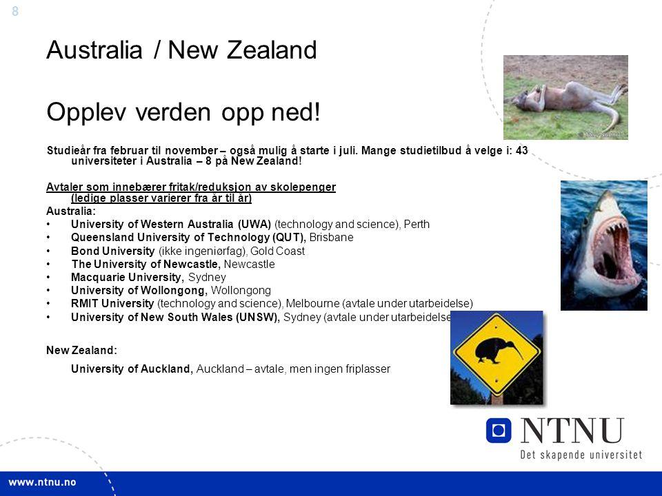 8 Australia / New Zealand Opplev verden opp ned.