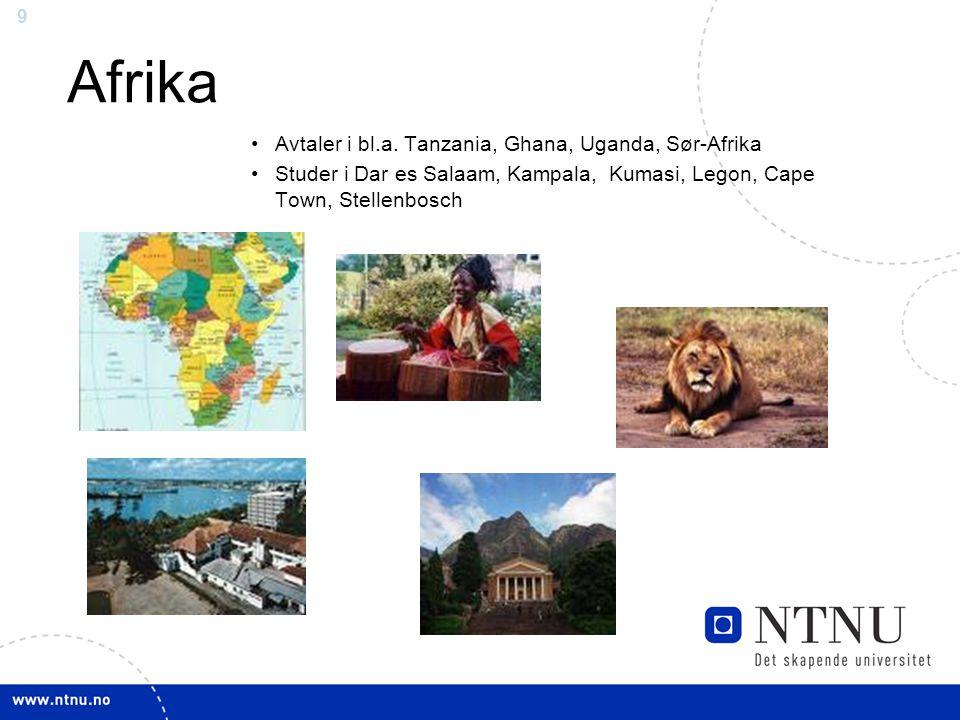 9 Afrika Avtaler i bl.a.