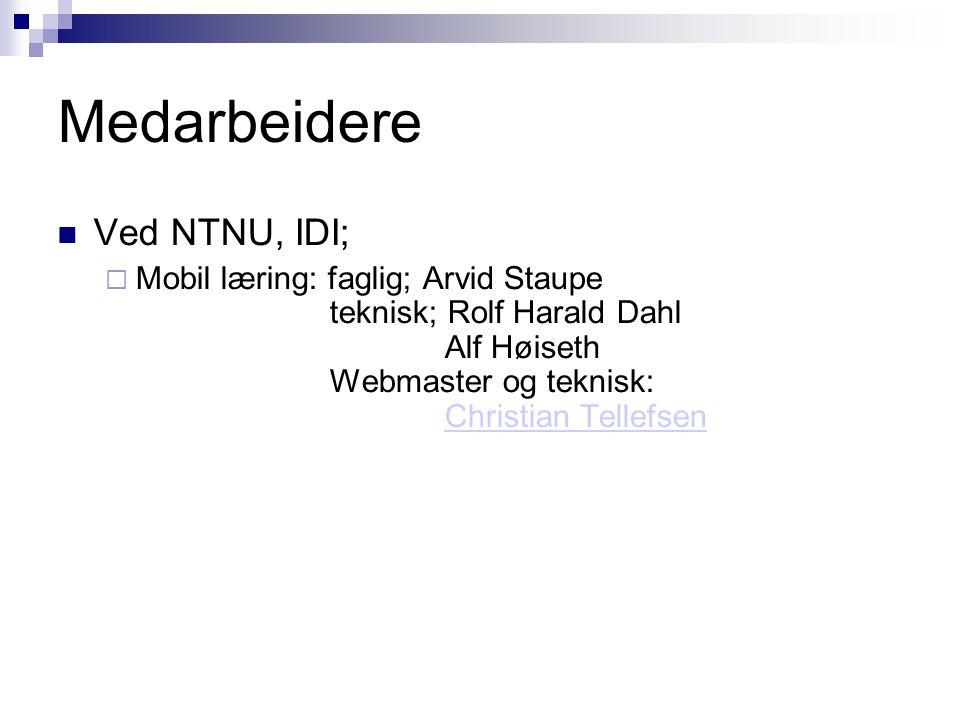 Ytterligere informasjon om pilotprosjektet http://move.idi.ntnu.no/ Innhold  Brukermanualer  Spørreundersøkelse  Lenke til software m.m.