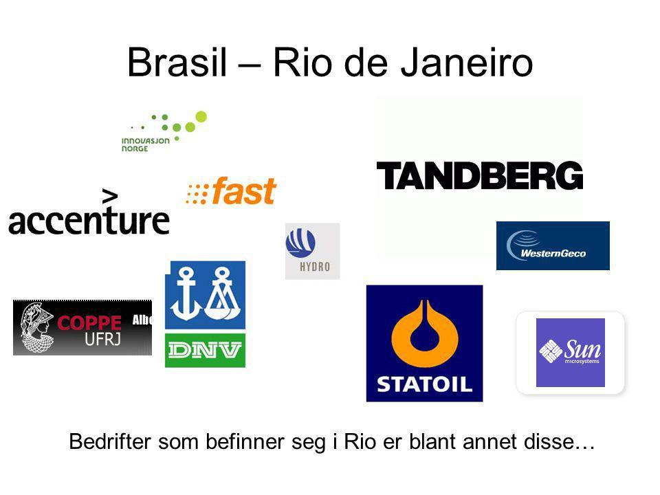 Brasil – Rio de Janeiro Bedrifter som befinner seg i Rio er blant annet disse…