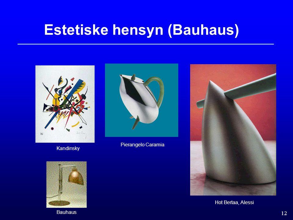12 Estetiske hensyn (Bauhaus) Hot Bertaa, Alessi Kandinsky Bauhaus Pierangelo Caramia
