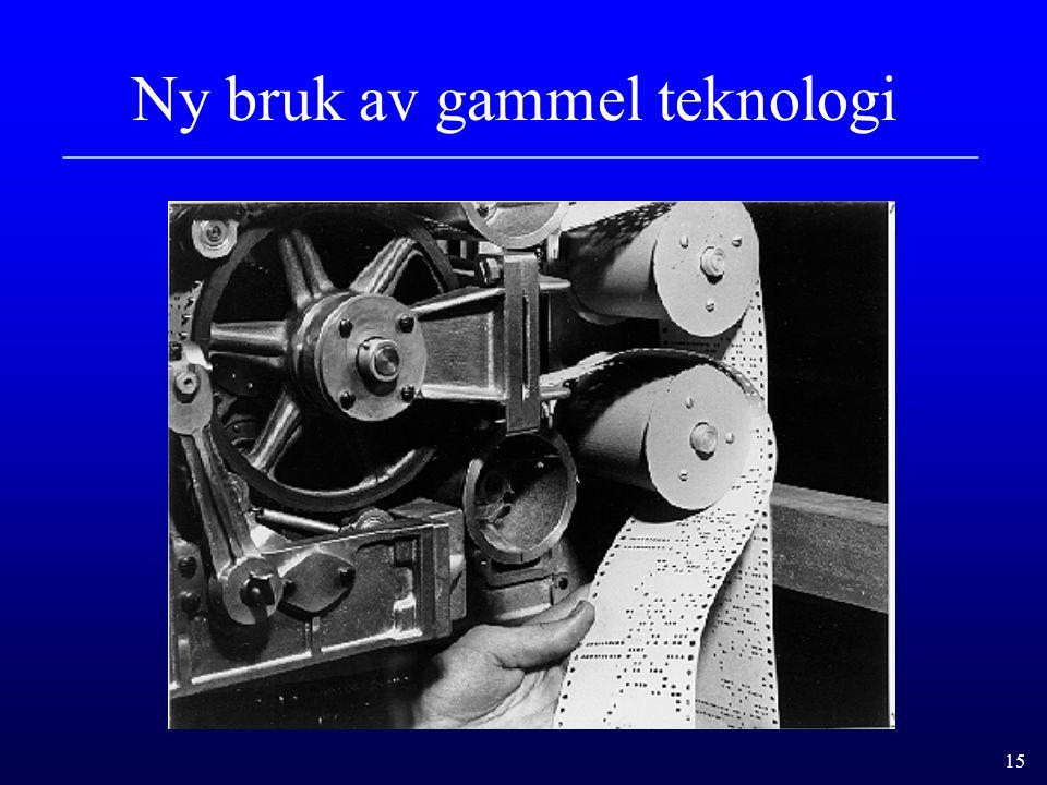 15 Ny bruk av gammel teknologi