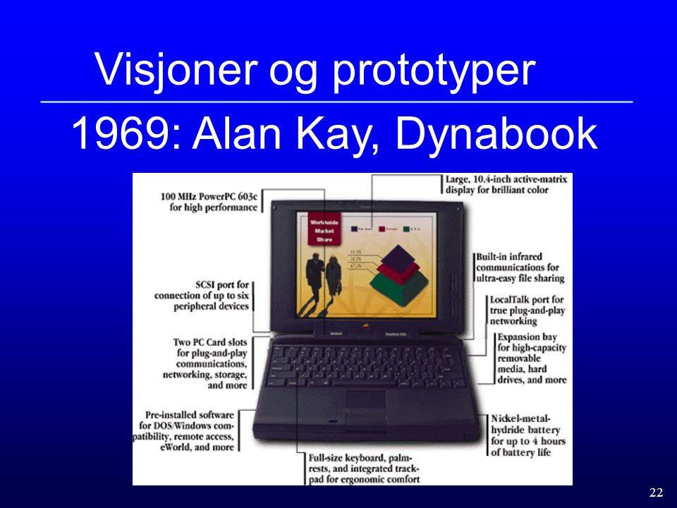 22 Visjoner og prototyper 1969: Alan Kay, Dynabook