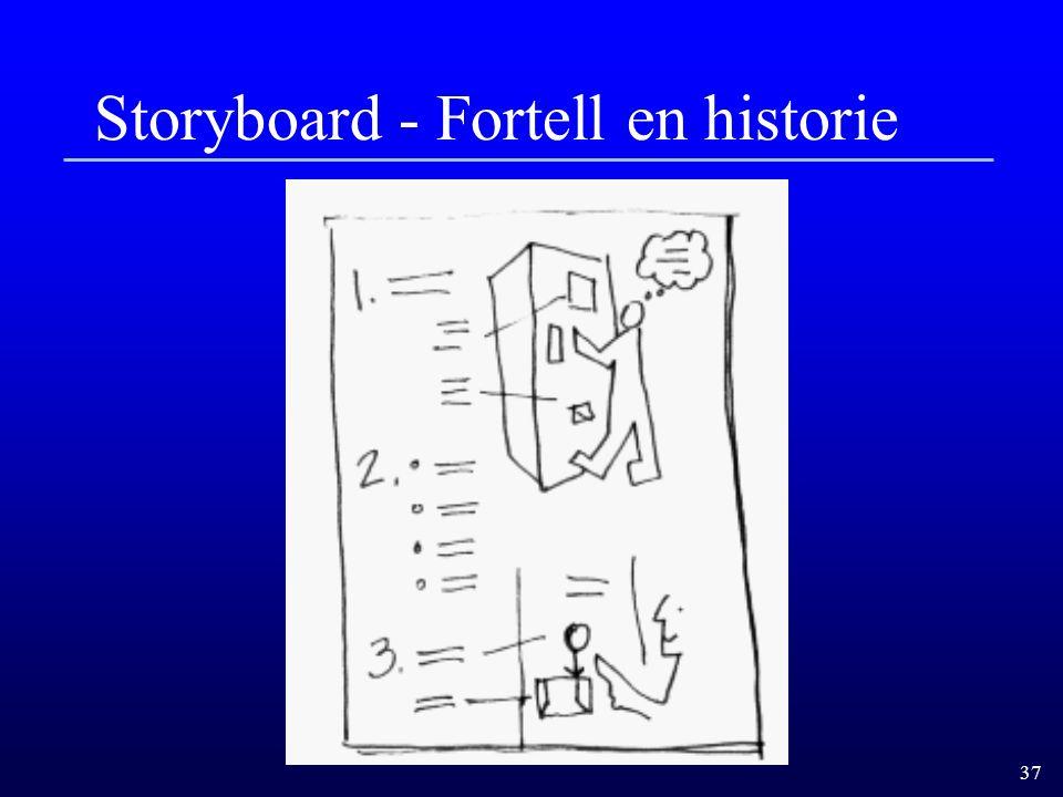 37 Storyboard - Fortell en historie