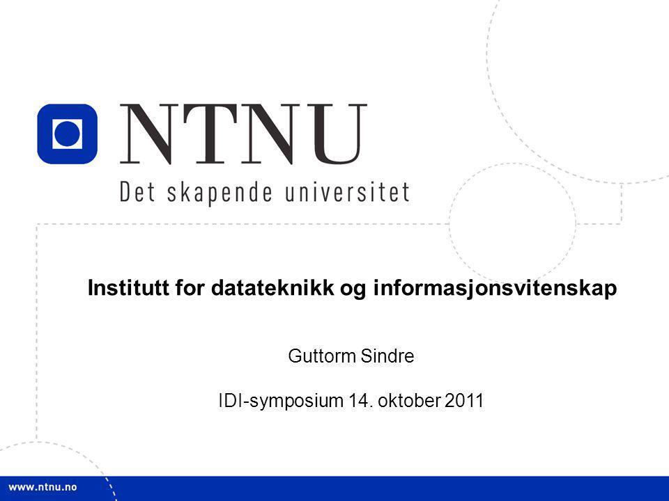 2 –IDB, NTH (1972-1987) –Allmennavdelingen (-1984) –Elektroavdelingen (1984-) –IDT, NTH (1987-1996) –IfI, AVH (1989-1996) –IDI, NTNU (1997-) –Samlokalisert 2001 i IT-bygget (tidl.