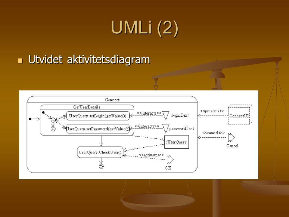 UMLi (2) Utvidet aktivitetsdiagram Utvidet aktivitetsdiagram