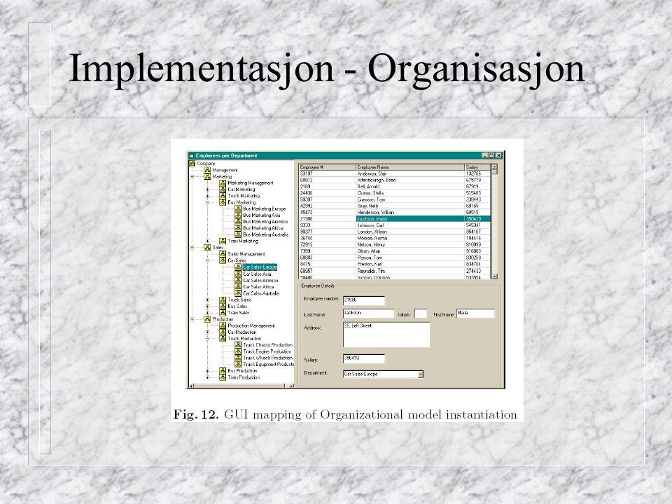 Implementasjon - Organisasjon
