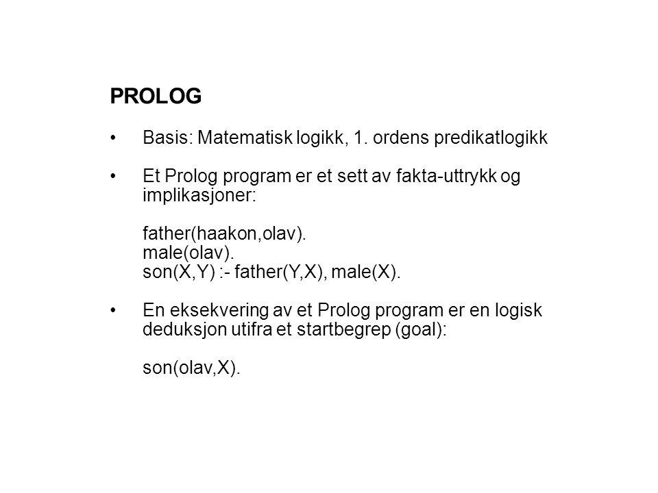 PROLOG Basis: Matematisk logikk, 1.