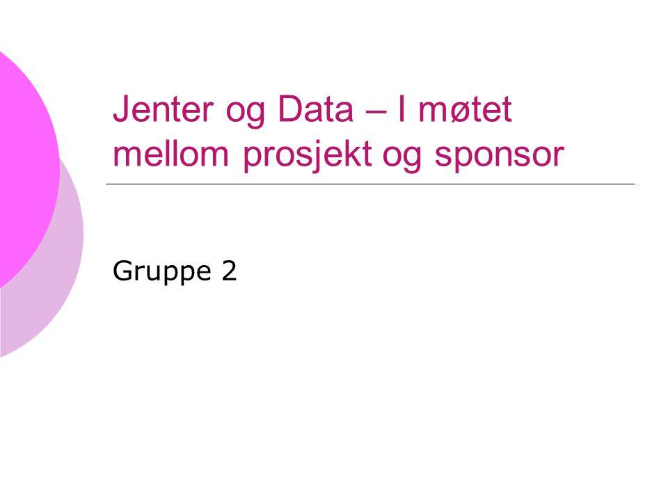 Jenter og Data – I møtet mellom prosjekt og sponsor Gruppe 2