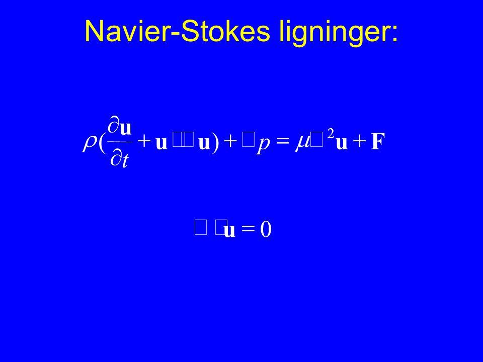 Navier-Stokes ligninger: Fuuu u    2 )(  p t 0  u