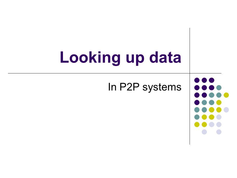 Innhold Søkeproblemet Distribuerte Hash Tabeller Noen eksempel systemer: CAN Pastry Tapestry Chord (som vil bli sett nærmere på) Liten oppsummering