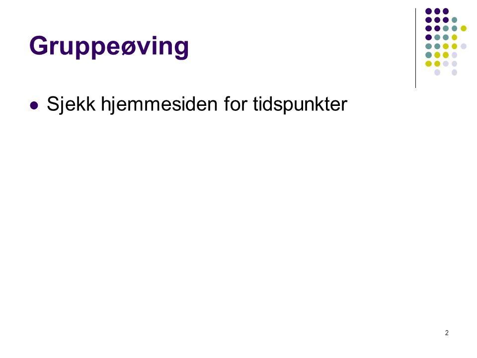 3 Dagens tema Repetisjon av Dynamisk programmering Grådighet (med eksempler) Hvordan angripe oppgaver med Grådig/DP.