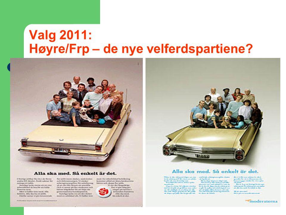 Valg 2011: Høyre/Frp – de nye velferdspartiene?