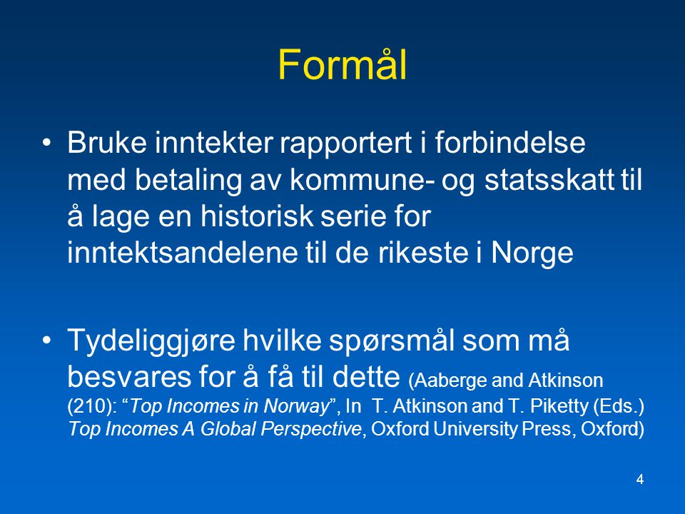 5 Table 9A.1 Sources of Norwegian Income Tax Data (* before a source denotes more detailed) Year SourceFurther source 1875* Oth.