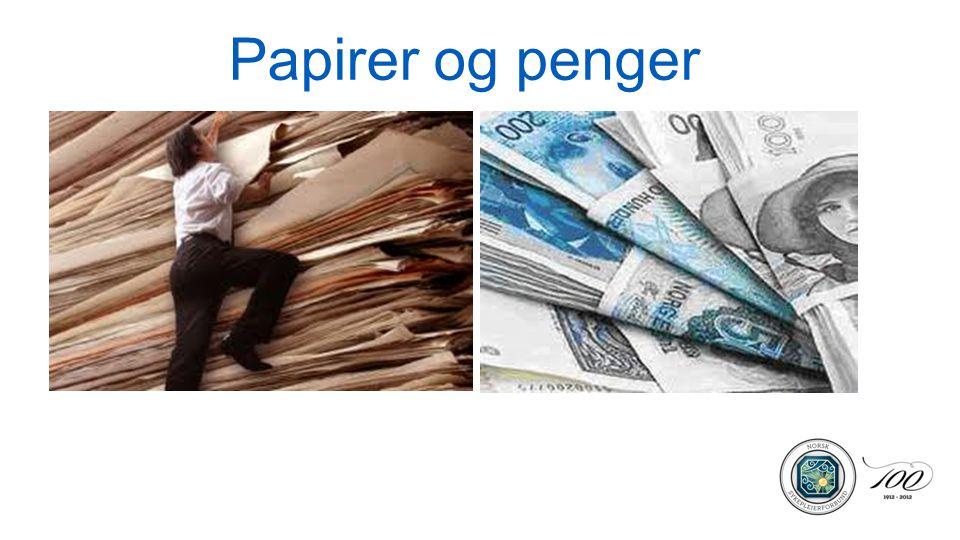 Papirer og penger
