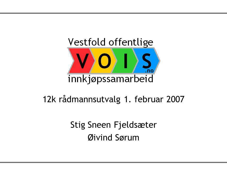1 12k rådmannsutvalg 1. februar 2007 Stig Sneen Fjeldsæter Øivind Sørum