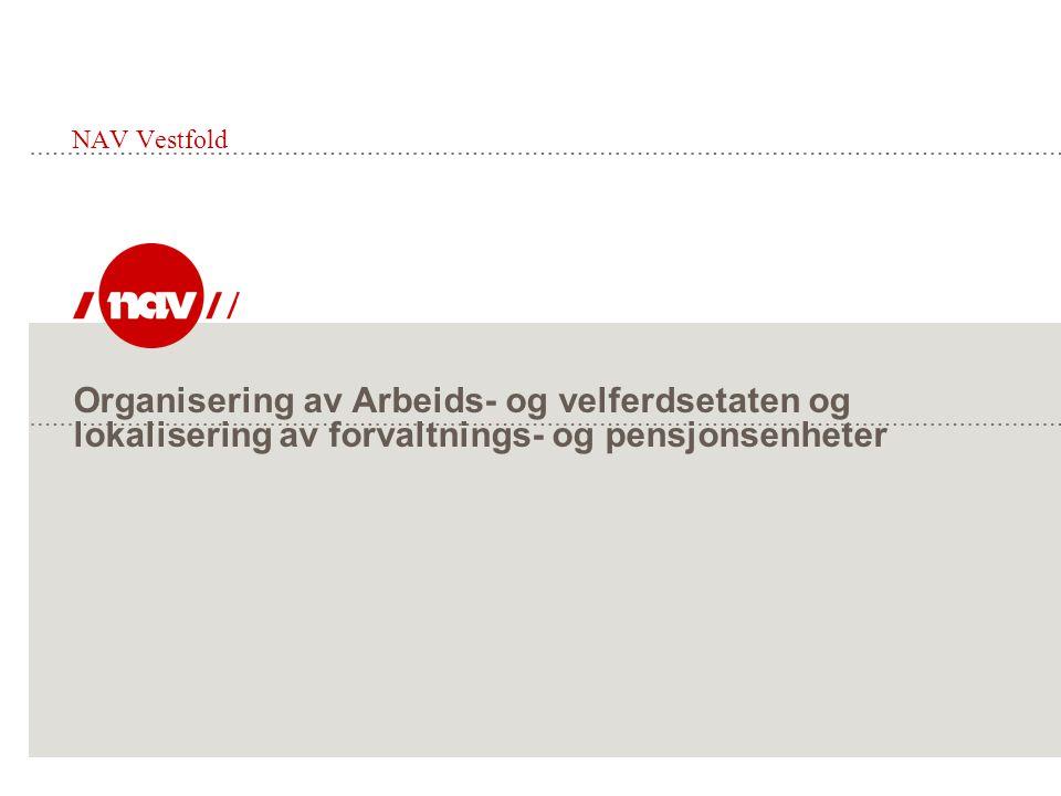 Organisering av Arbeids- og velferdsetaten og lokalisering av forvaltnings- og pensjonsenheter NAV Vestfold