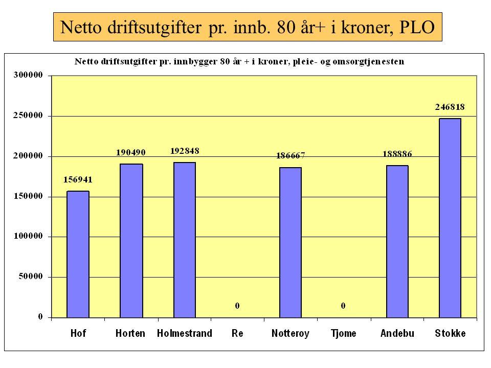 Netto driftsutgifter pr. innbygger; kommunehelsetjenesten