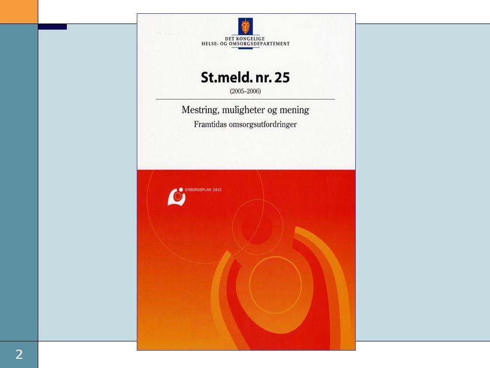 13 Fem strategier 1.Kvalitetsutvikling, forskning og planlegging 2.Kapasitetsvekst og kompetanseheving 3.Bedre samhandling og medisinsk oppfølging 4.Aktiv omsorg 5.Partnerskap med familie og lokalsamfunn