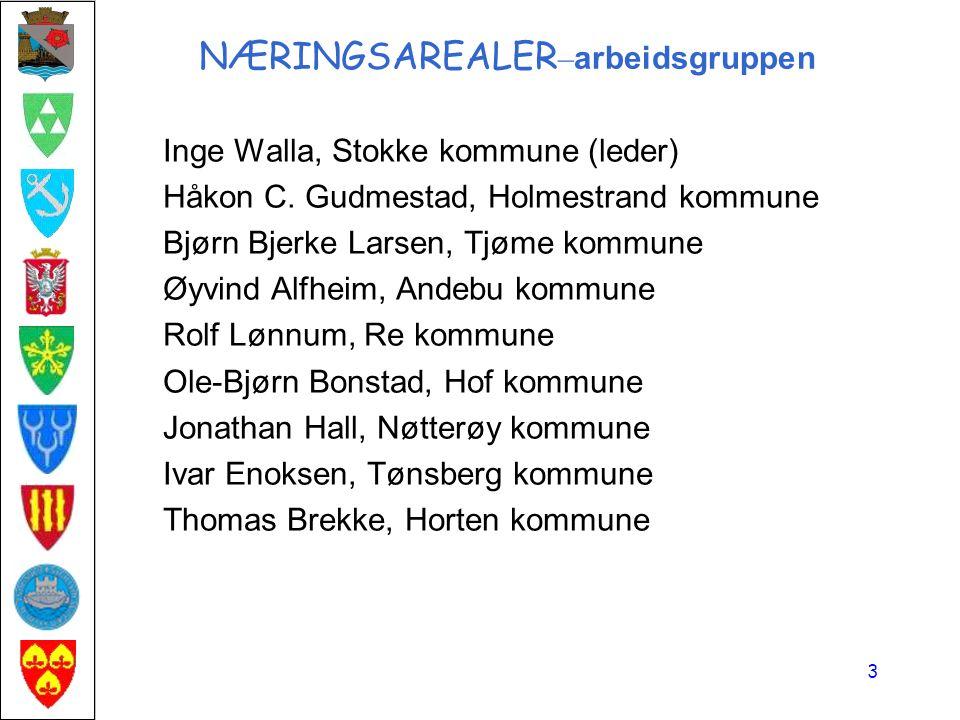 NÆRINGSAREALER – arbeidsgruppen Inge Walla, Stokke kommune (leder) Håkon C.