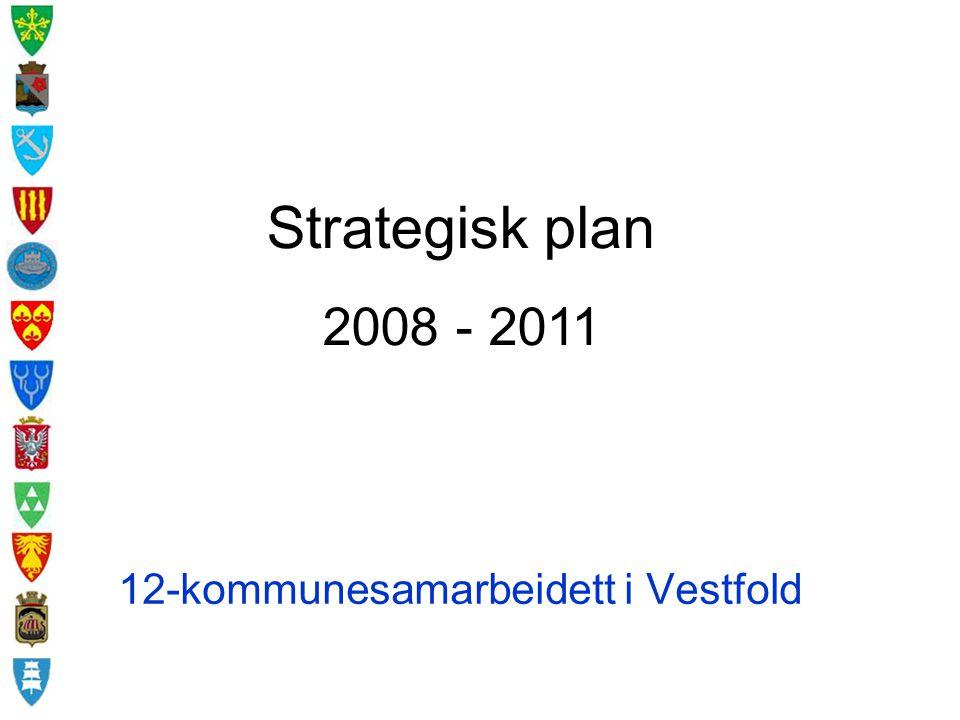 Videre fremdrift Strategisk plan 2008-2011 oversendes kommunene for politisk behandling 12