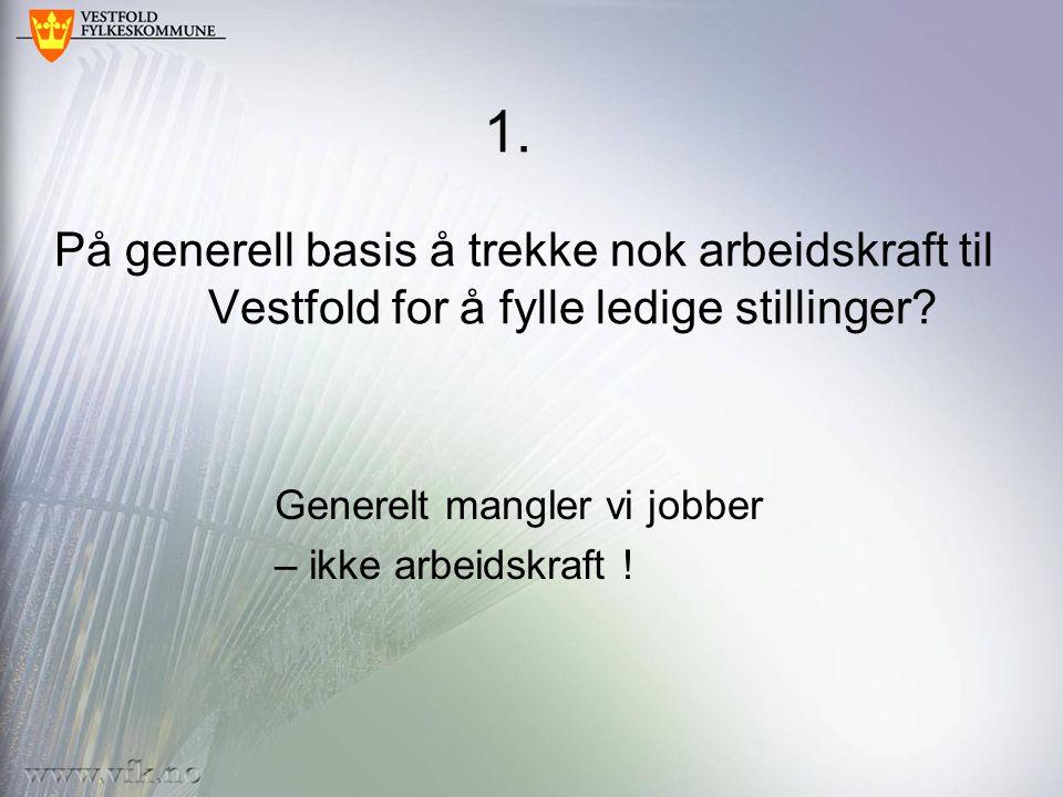 På generell basis å trekke nok arbeidskraft til Vestfold for å fylle ledige stillinger.
