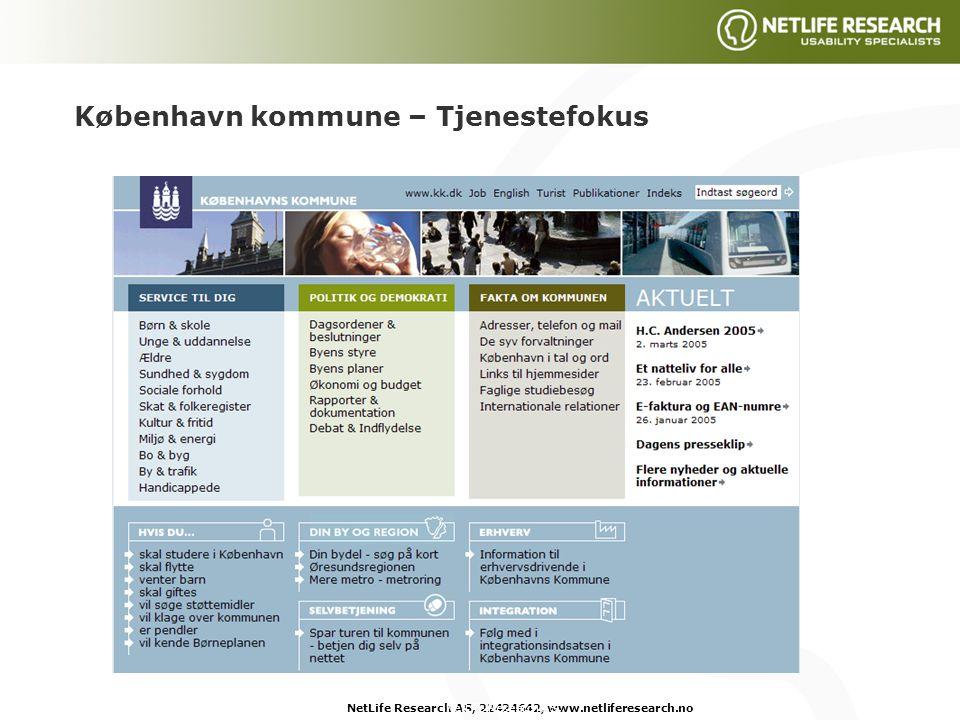 NetLife Research AS, 22424642, www.netliferesearch.noNetLife Research AS, København kommune – Tjenestefokus