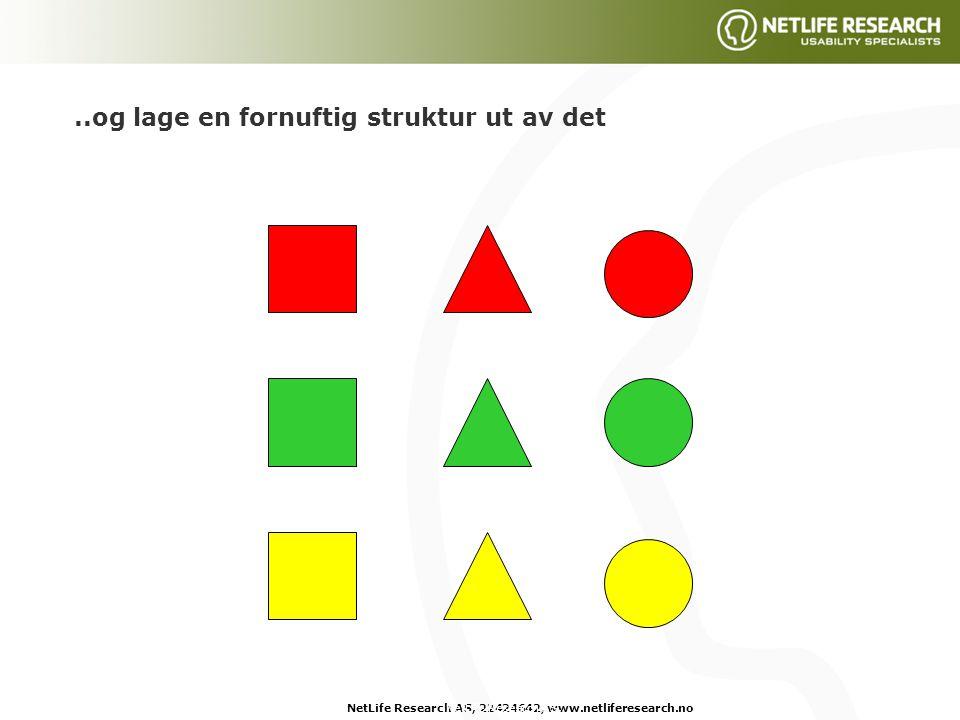 NetLife Research AS, 22424642, www.netliferesearch.noNetLife Research AS,..og lage en fornuftig struktur ut av det