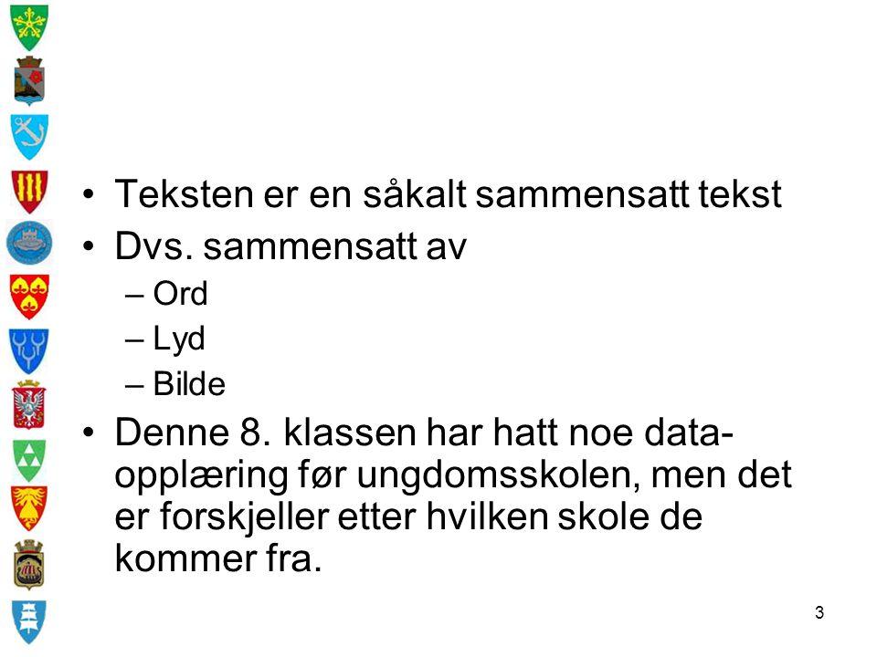 4 Elevene blir da tatt på datarommet for opplæring av norsklæreren.