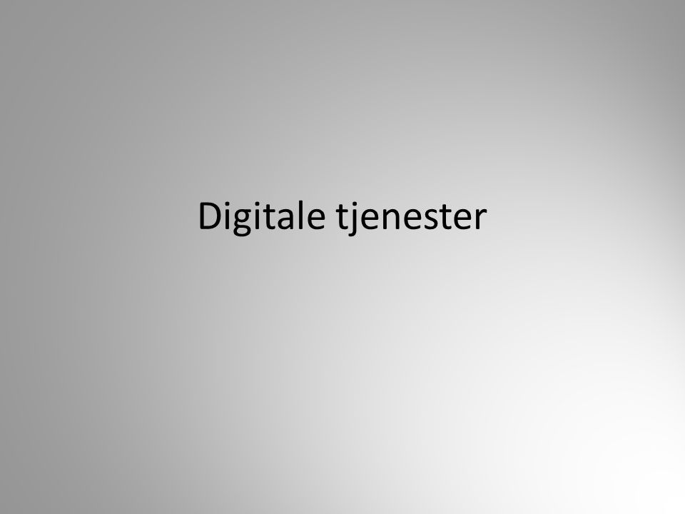 Digitale tjenester