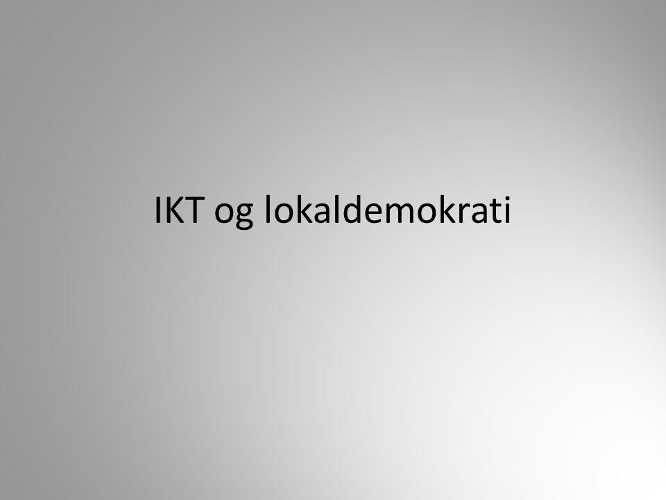 IKT og lokaldemokrati
