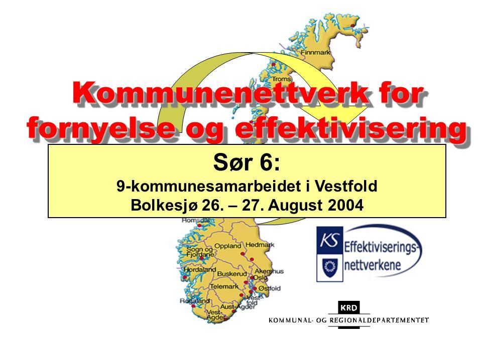 Kommunenettverk for fornyelse og effektivisering Sør 6: 9-kommunesamarbeidet i Vestfold Bolkesjø 26.