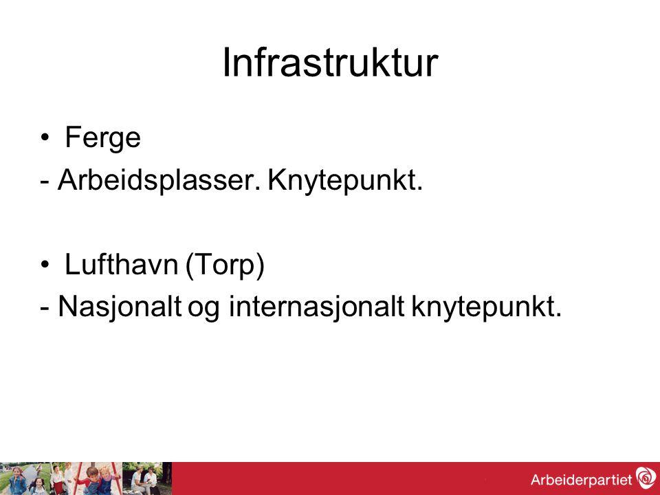 Infrastruktur Jernbane De neste 10 årene er regjeringens mål å øke kapasiteten for lokal-, regional og InterCity- trafikken på strekningen Oslo – Drammen – Vestfold – Grenland.