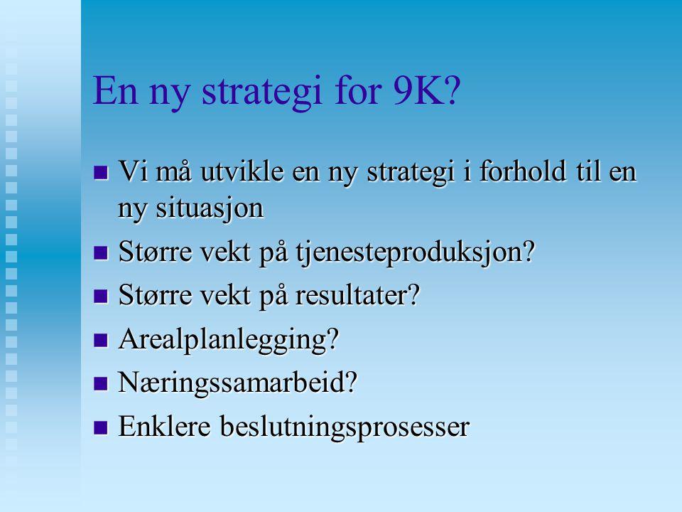 En ny strategi for 9K.n Skal vi ta med oss Lardal.
